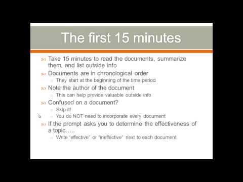 APUSH Review, DBQ Writing Tips