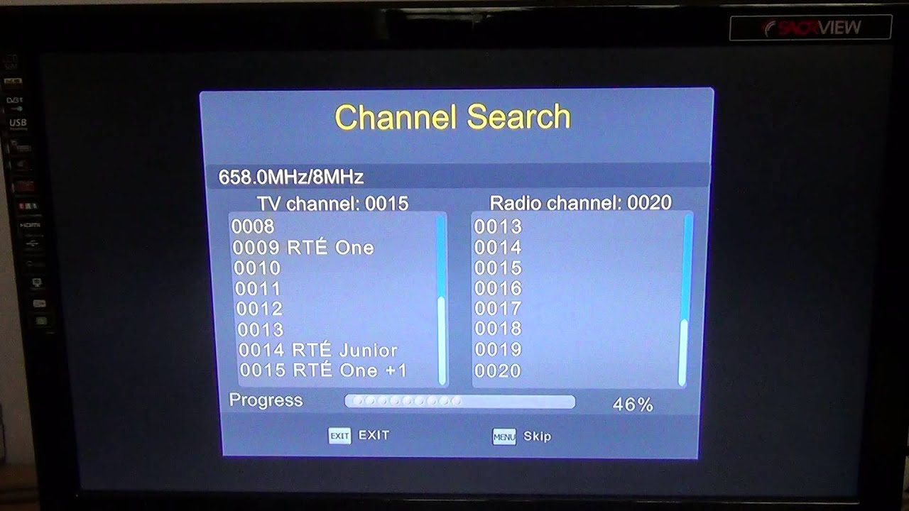 how to manually tune tv