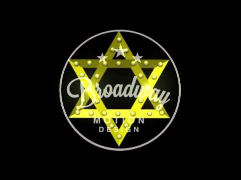 Spamalot Scenic Projections: Star of David (w/ Blinking Lights!)