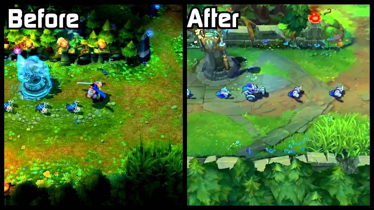 Summoner's Rift Visual Update 2014 Before/After Comparison