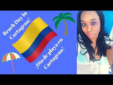Colombia Travel Vlog | Beach Day In Cartagena Colombia! | ¡Dia de la Play en Cartagena! #TravelVlogs