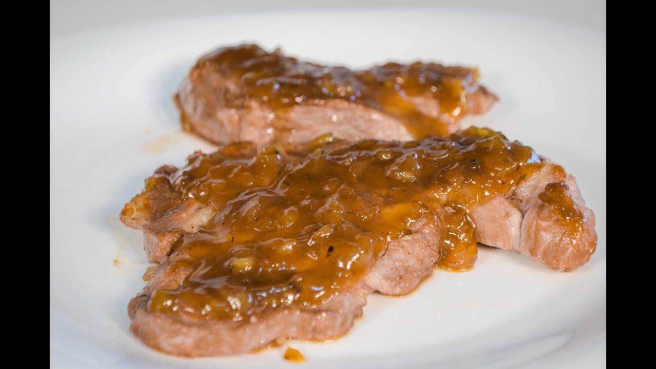 Cerdo con salsa agridulce bondiola con salsa de miel y - Solomillo de ternera al horno con mostaza ...