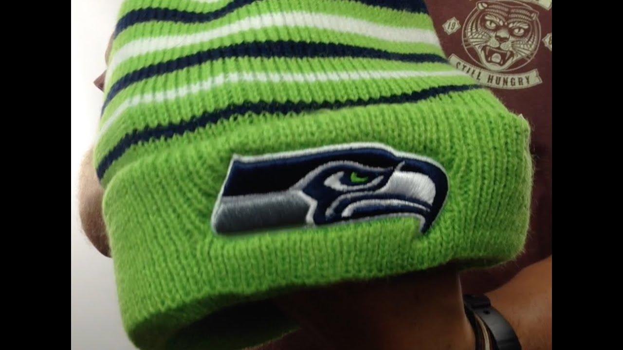 f8cbb1d5f41 Seahawks  NFL INCLINE  Knit Beanie Hat by 47 Brand - YouTube