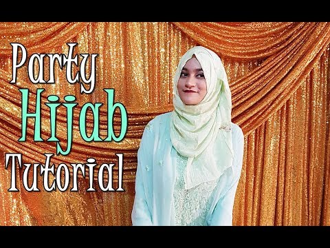 Party Hijab Tutorial | Easy Way to Look Glam | Bites & Wear