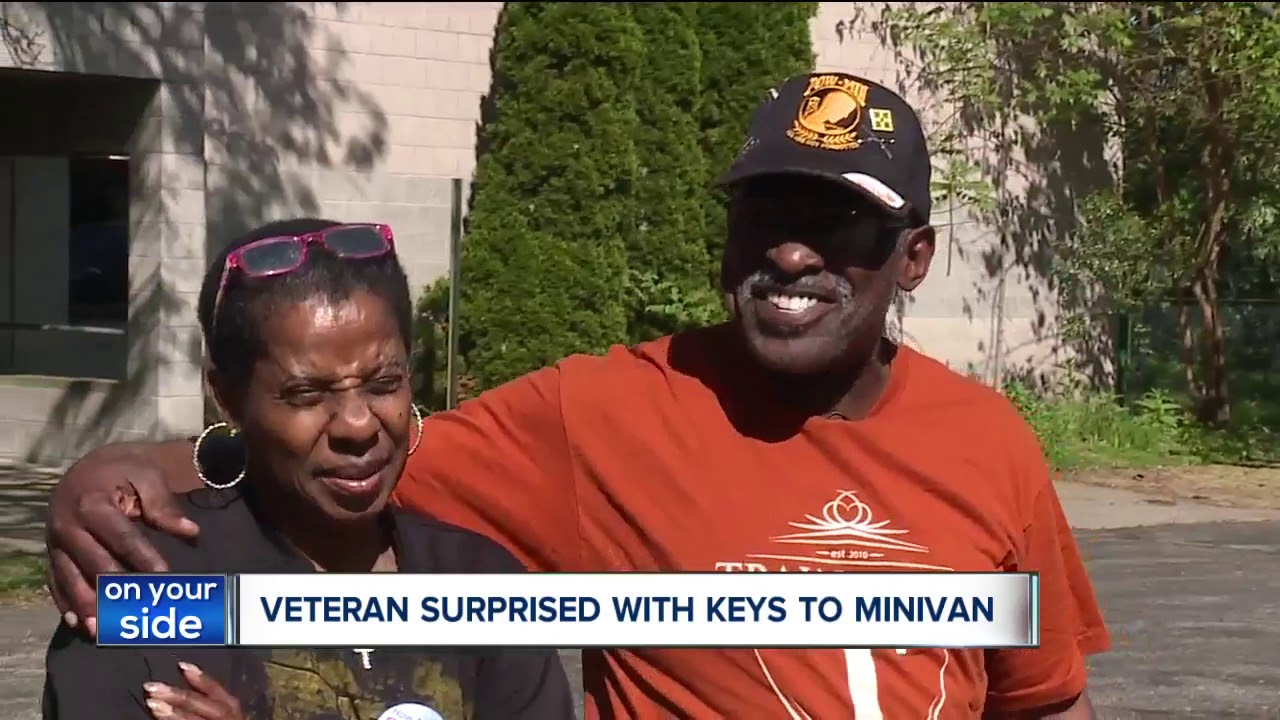 CLEVELAND, OHIO: Mentor church surprises homeless veteran with minivan on Memorial Day