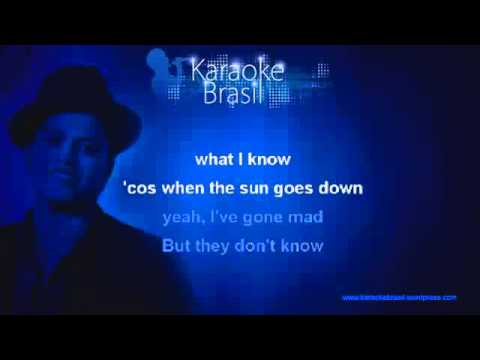 Bruno Mars - Talking To The Moon -Karaoke