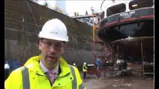 Mersey Ferry Royal Iris in Dry Dock at Cammell Laird