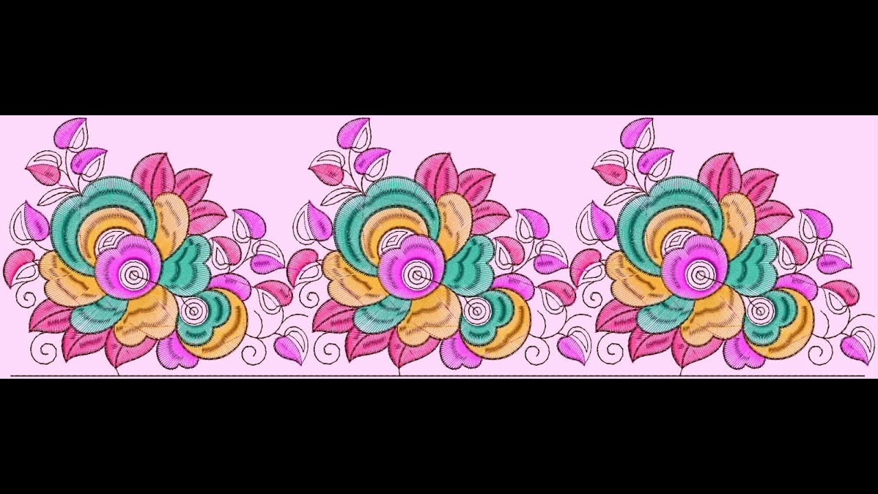Paisley Border Embroidery Designs