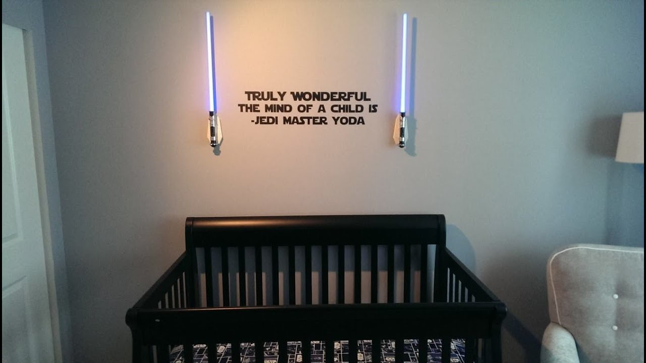 Baby Girl Nursery Wallpaper Uk Star Wars Theme Baby Room Youtube