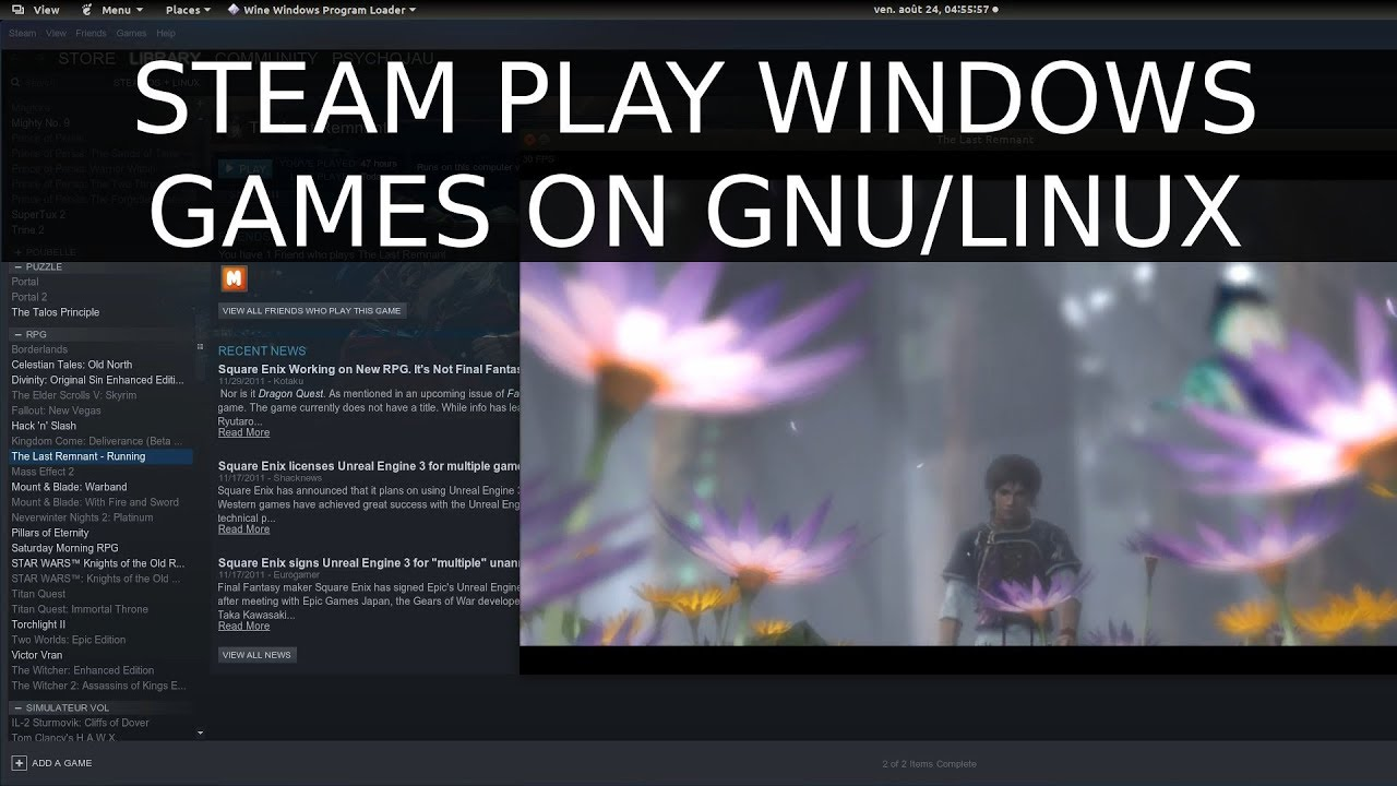 How to Move +Play Windows games on Linux with Steam Play, Last Remnant,  GamingOnLinux
