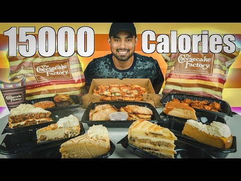 EATING 15000 CALORIES OF CHEESECAKE FACTORY!
