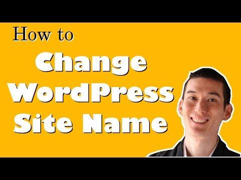 How to Change WordPress Site Name