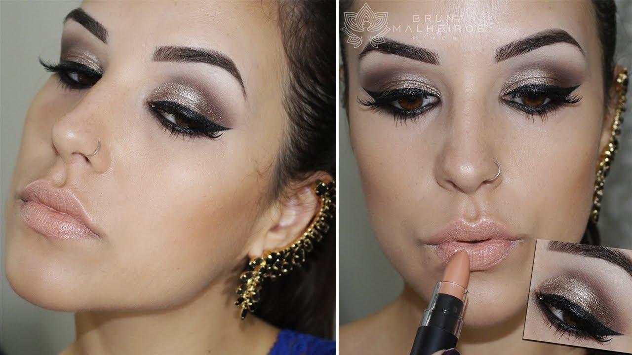 Favoritos Maquiagem Rápida, Fácil e Coringa para Noite - YouTube MG18