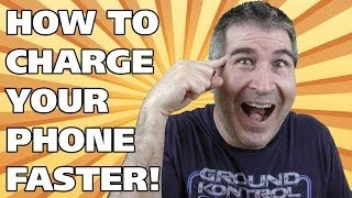 HOW TO CHARGE YOUR PHONE BATTERY FASTER! - Easy Everyday Solutions thumbnail
