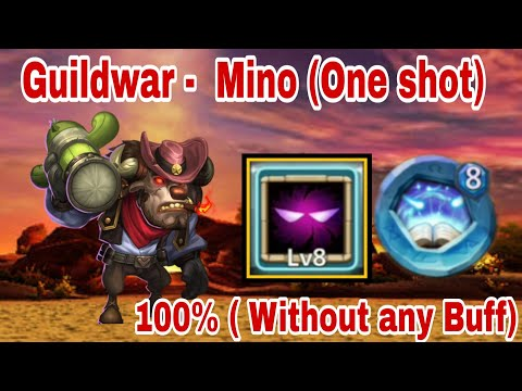 Guildwar   One Shot Mino(without Any Buff)   Matrix_Of_War   Top-5   Castle Clash