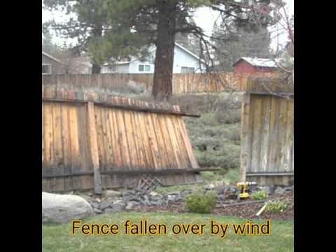 Wind Damaged Fence Repair Specialist In Denver Co Youtube
