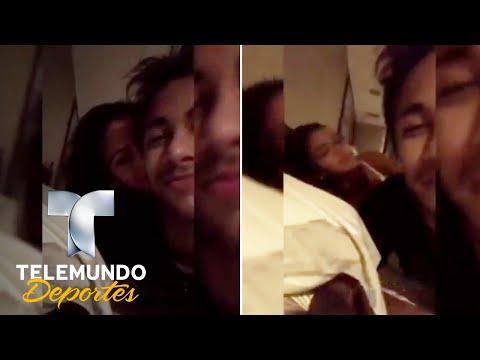 Filtran video sensual de Neymar y su novia en la cama   Deporte Rosa   Telemundo Deportes