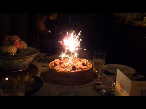 30th birthday candle sparklers YouTube