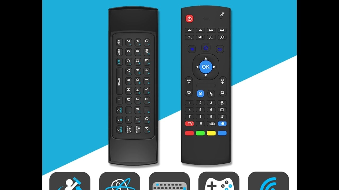 MX3 Air Mouse Wireless Keyboard Remote Voice Control For Android TV BOX //SmartTV