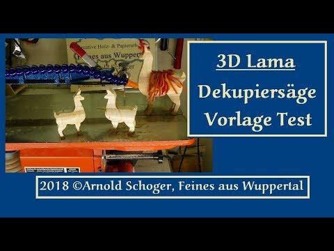 3d Lama Dekupiersäge Vorlage Test 2018 Arnold Schoger Feines Aus