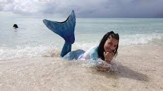 Family Fun Day at the Beach - Hadil Becomes A Mermaid