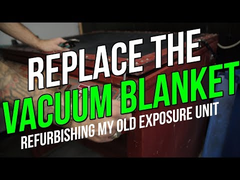 How to Screen Print | Replacing the Vacuum Blanket on my Exposure Unit.