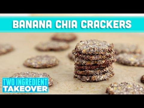 banana chia crackers