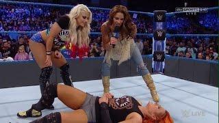 Mickie James Alexa Bliss Attacks Becky Lynch