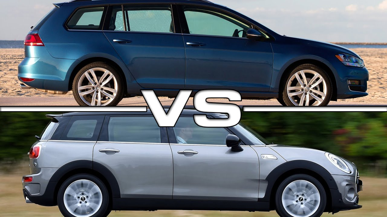 Vw Golf Sportswagen Vs Mini Cooper Cloobman S Youtube