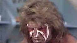 ultimate warrior goes nuts on mean gene