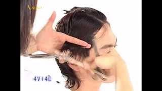 萌學園阿本髮型,Masha都會雅痞英式型男髮型,時尚對比髮型教學影片,韋恩智慧型組合剪刀-CTS Hairstyle 02(中文美髮教學)