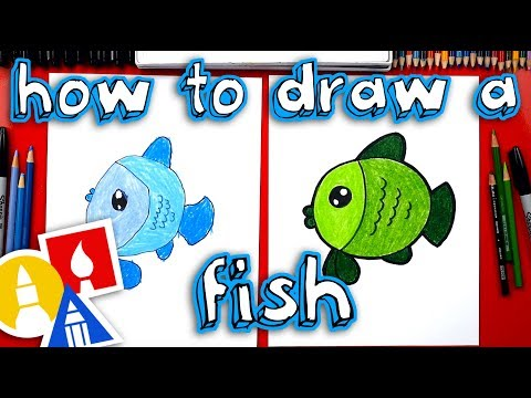 How To Draw A Cartoon Fish (for Young Artists)
