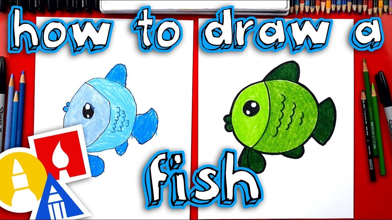 How to Draw a Cartoon Fish, Step by Step, Cartoon Animals ...