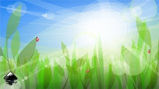 How to draw a grass background with sun rays in Inkscape