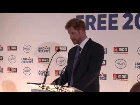 Prince Harry's speech at the #LandMineFree2025 reception