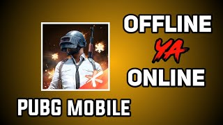 Pubg mobile game offline ya online with English subtitles||