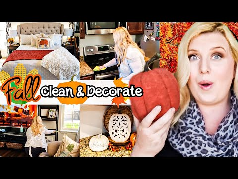 FALL CLEAN AND DECORATE WITH ME | FALL DECORATING IDEAS