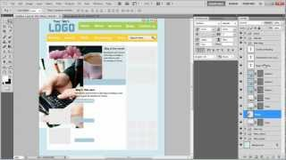 How to insert text and images into a blog layout in Photoshop