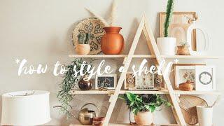 How To Style A Shelf// How To Decorate A A Frame Shelf