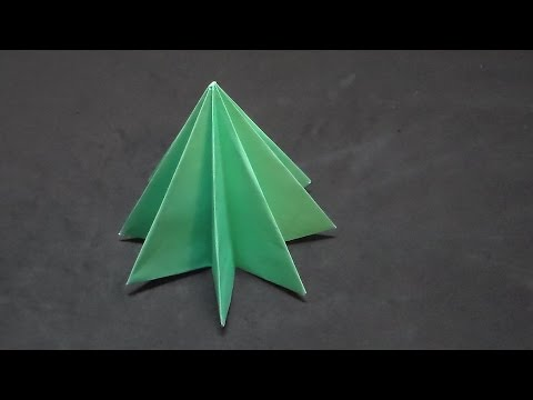 How to make an easy origami tree