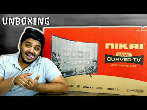 NIKAI 40inch HD Curved Smart Tv Unboxing & Review in Tamil | தமிழ்