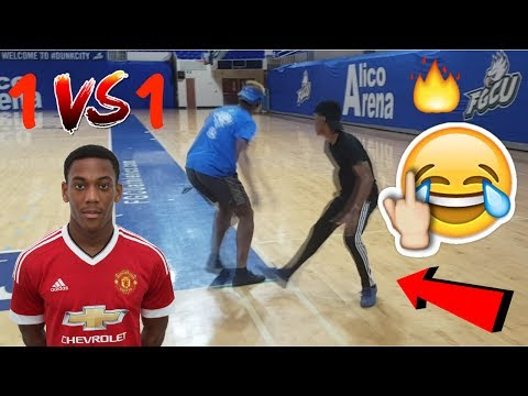 1v1 against ANTHONY MARTIAL! Manchester United Striker! I tried to BREAK HIS ANKLES!!!😂🙈