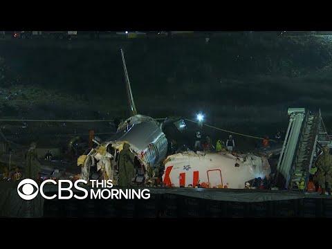 Passengers scramble to safety after Turkey plane crash