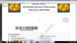 How To Apply for Indian Army (Officer Entry Rank) Military recruiter 201718