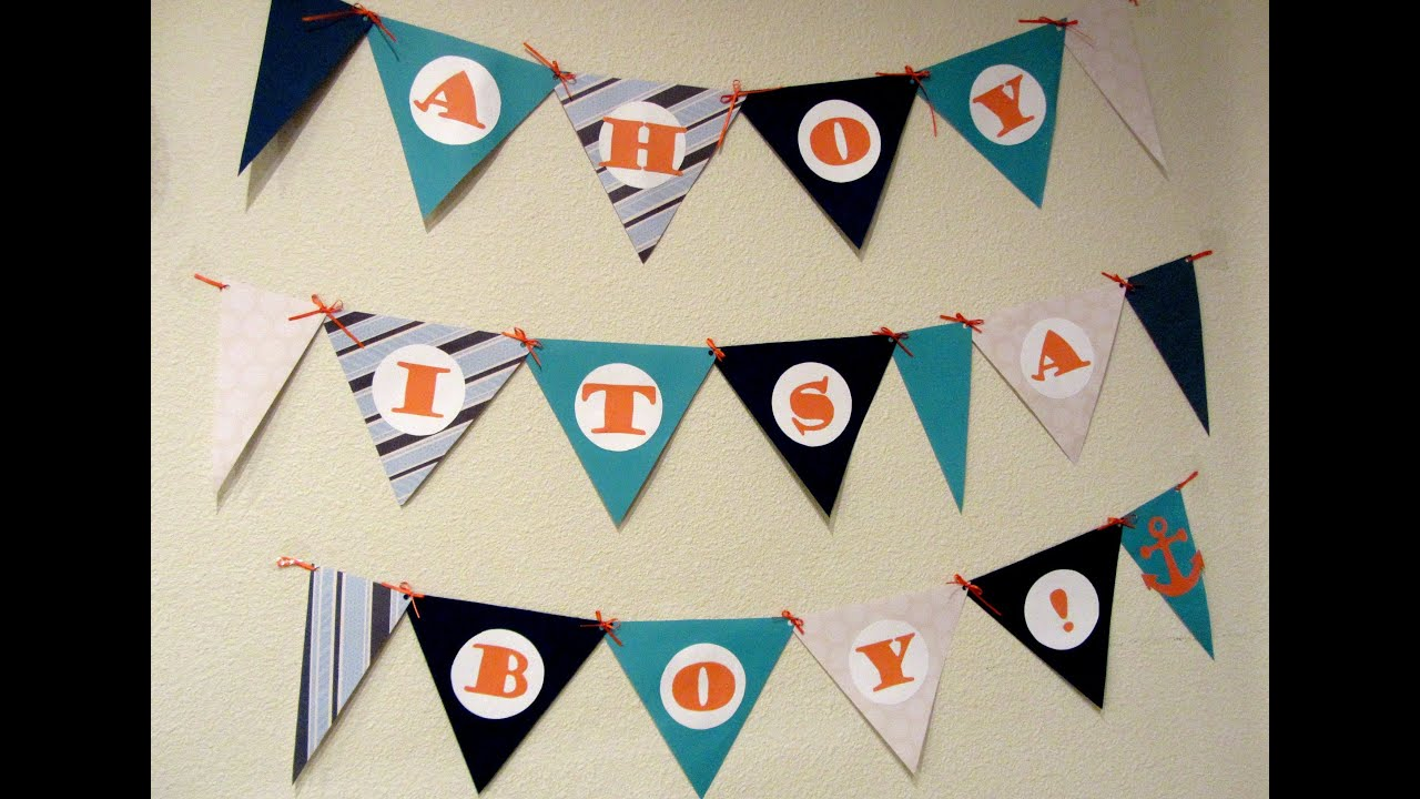 DIY BABY SHOWER BANNER! - SwappFamily - YouTube