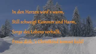 LEISE RIESELT DER SCHNEE mit Lyrics  |  4bMusik