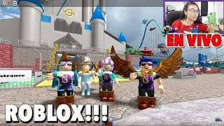 Live Disney World / Roblox game in Spanish with subscribers