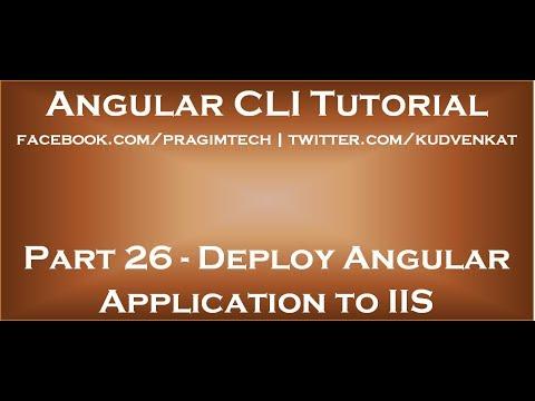 Deploy angular app to IIS