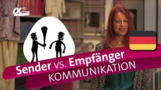 Sender-Empfänger-Modell - Kommunikation | alpha Lernen erklärt Deutsch