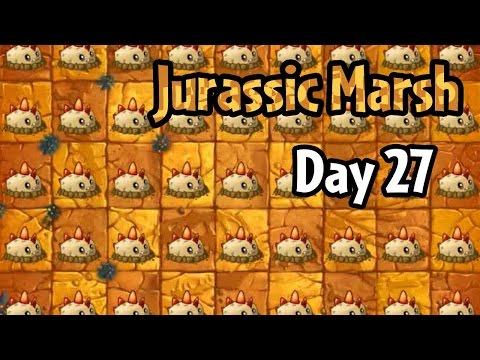 Plants vs Zombies 2 - Jurassic Marsh Day 27 Replay: Another Strategy (Demo Gameplay)